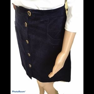 Joe Fresh Navy Corduroy Skirt